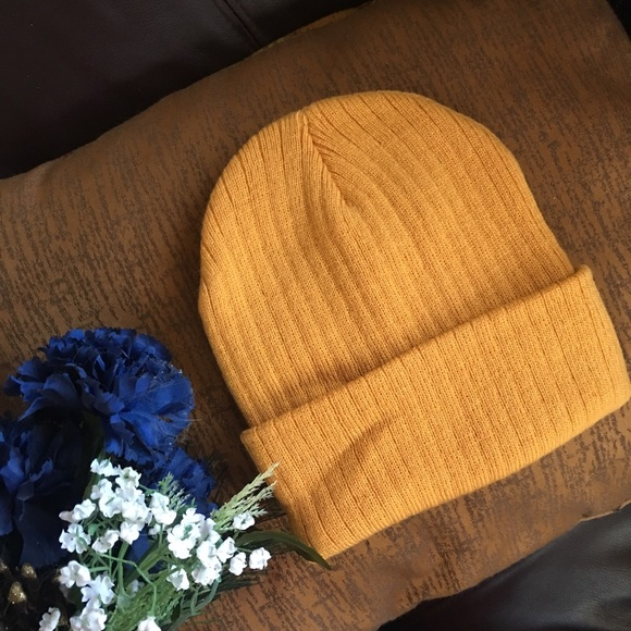 Clearance beanie knit mustard color ski hat b5d32c0bedb3